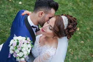 Objektiv für Hochzeitsfotos