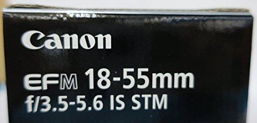 Canon EF-M 18-55mm 1:3,5-5,6 IS STM Standardzoom-Objektiv (52mm Filtergewinde) schwarz -
