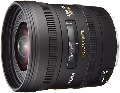 Sigma 4,5 mm F2,8 EX DC HSM Zirkular Fisheye-Objektiv (Gelatinefilter) für Canon Objektivbajonett -